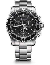 Men's 241695 Maverick Chrono Analog Display Swiss Quartz Silver Watch
