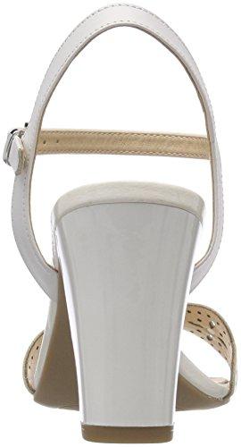 Caprice 28303, Sandalias de Talón Abierto Para Mujer Blanco (White Nappa 102)