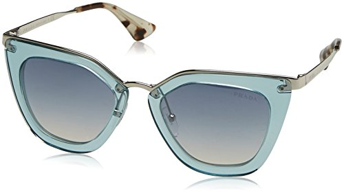 Prada Women's Transparent Sunglasses, Transparent Azure/Blue, One - Prada Glasses Blue