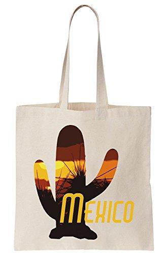 Bag Cactus Summer Design Heat Mexico Tote Canvas Yvxd88nP
