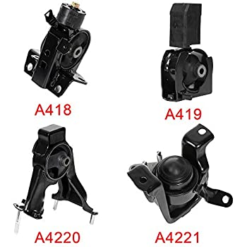 ECCPP Engine Motor and Trans Mounts A4219 A4221 A4220 A4218 Set of 4 Fit For Toyota Corolla 2003-2008 Matrix 2003-2006 Pontiac Vibe 2003-2008 1.8L