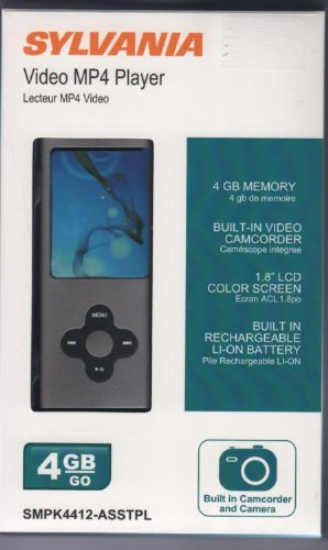 Sylvania Video Mp4 Player 1.8 Lcd Color Screen-black by Sylvania