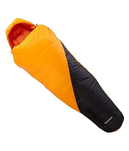 a9e064079 Buy QUECHUA Forclaz 10 deg C Light Hiking Sleeping Bag by Decathlon -  Orange (L) Online at Low Prices in India - Amazon.in