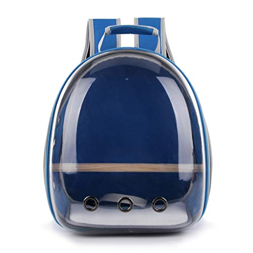 Hardli Pet Parrot Carrier, Bird Travel Bag,Space Capsule Transparent Backpack, Breathable 360° Sightseeing,Portable (Mesh Bird Carrier)