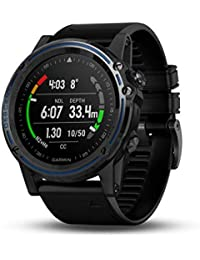Descent Mk1, Watch-Sized Dive Computer with Surface GPS, Includes Fitness Features, Gray Sapphire with Black Band