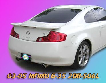 Effects Ground Kit Razzi (Infiniti G35 Coupe Rear Spoiler 2003 2004 2005 - Painted - QX1 Glacier Pearl/Ivory Pearl)
