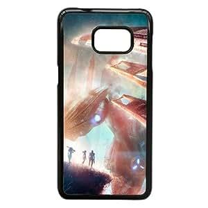Normandy Mass Effect nave espacial 92,836 Samsung Galaxy S6 Edge + Plus caja del teléfono celular funda Negro caja del teléfono celular Funda Cubierta EEECBCAAL72467