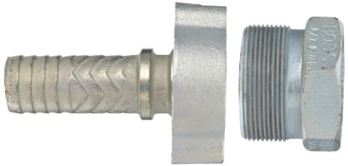 Dixon Boss GF61 Plated Iron Hose Fitting, GJ Boss Ground Joint Complete Seal, 1-1/2'' NPT Female x 1-17/32'' Hose ID Barbed by Dixon Valve & Coupling (Image #2)