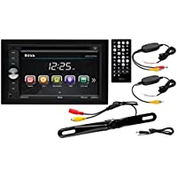 Boss Audio B9351WRC Double Din, Touchscreen, Bluetooth, DVD/CD/MP3/USB/SD AM/FM Car Stereo, 6.2 Inch Digital LCD Monitor, Wireless Remote, Wireless Rear License Plate Camera.