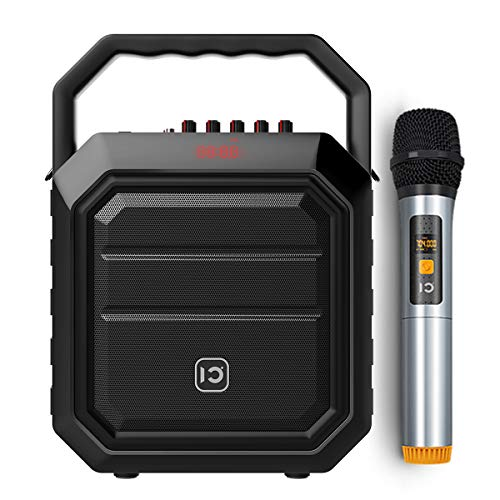WinBridge Microphone with Speaker Pa Systems Portable with Handheld Mic Karaoke Player System Bluetooth Speaker 30W for Outdoors Active, Live Performance, Party,Teaching Black