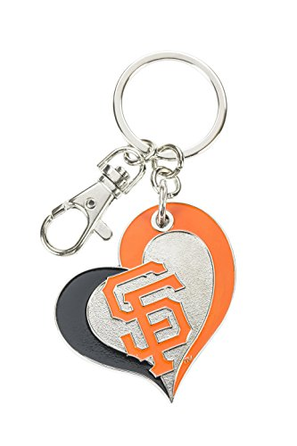 aminco MLB San Francisco Giants Swirl Heart Key Ring