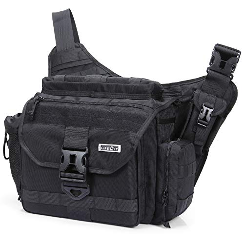 Lifewit Multi-Functional Military Tactical Messenger Bag Large Shoulder Bags Laptop Cross Body Bag Fit Hiking, Outdoor Sports, Daily Service Military -