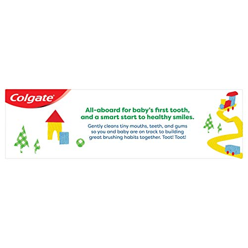 41q1852V74L - Colgate Zero Baby And Toddler Fluoride Free And SLS Free Toothpaste, Natural Mild Fruit - 1.75 Ounce