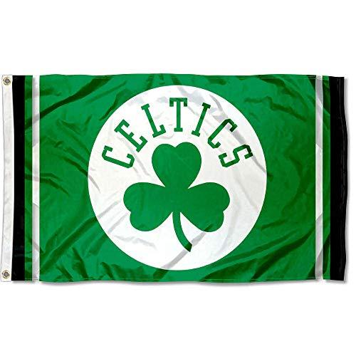 WinCraft Boston Celtics Shamrock Logo Flag and Banner