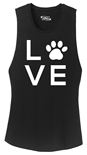 Top Love Dog Big Graphic Black XL (Big Dog Tank Top)