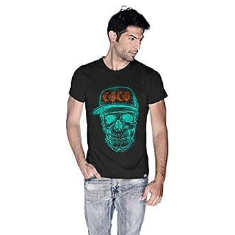 Creo Cyan Orange Coco Skull T-Shirt For Men - Xl, Black