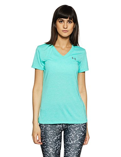 Absinthe Womens Shirt - Under Armour Women's Threadborne Train Twist V-Neck Shirt, Absinthe Green/Graphite, Small