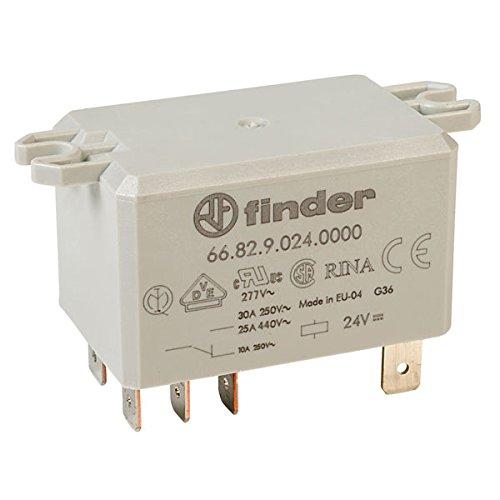 Finder 1 x 66.82.9.024.0000 24V Relay DPDT DC 30A (Flange Mounting) 66.82