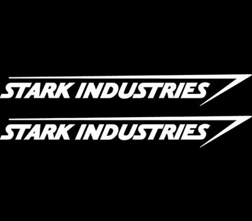 Stark Industries Sticker Vinyl Decal Marvel Iron Man Avengers Car Window x2, Die cut vinyl decal for windows, cars, trucks, tool boxes, laptops, MacBook - virtually any hard, smooth -