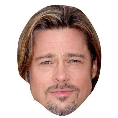 Brad Pitt Celebrity Mask, Cardboard Face and Fancy Dress Mask (Fancy Face Masks)