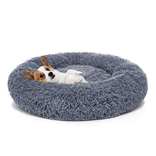 MIXJOY Orthopedic Dog Bed Comfortable Donut Cuddler Round Dog Bed Ultra Soft Washable Dog and Cat Cushion Bed (23