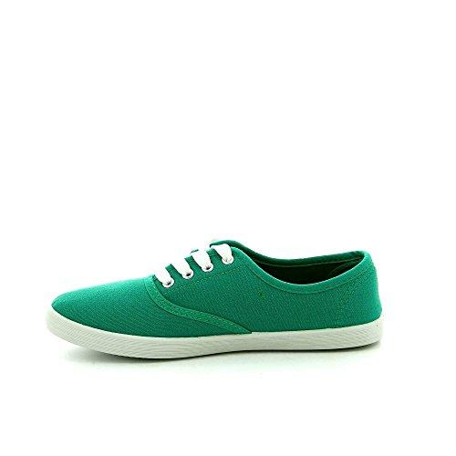 Ideal Shoes, Damen Sneaker Grün - grün
