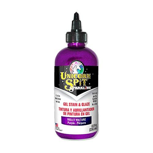 Unicorn SPiT Sparkling - Gel Stain & Glaze - Violet Vulture 8.0 Fl Oz by Unicorn Spit