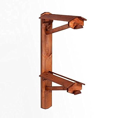 monturero de pie de madera doble