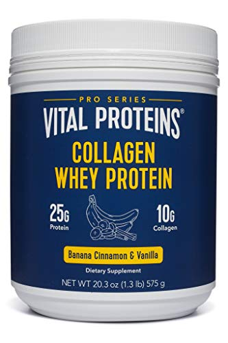 Vital Proteins Pasture-Raised, Grass-Fed Collagen Whey Banana Cinnamon