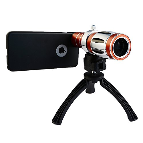 Apexel 20X Ultra Beast Magnifier Zoom Manual Focus Telephoto Telescope Phone Camera Lens Kit with High-end Tripod for iPhone 4/4S 5/5S 6/6 Plus