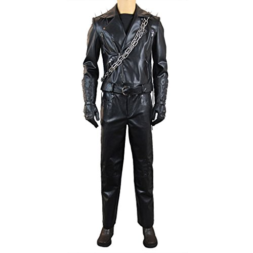 Mtxc Men's Ghost Rider Cosplay Costume Johnny Blaze Leather Outfit