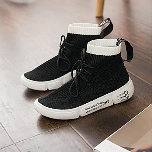 Running Sneakers Cordones Calzado Para Lovelysi Retro Deportivo Botas Correr Mujers Plataforma Malla Fitness Talón Senderismo 882 Negro Invierno Zapatos Atletismo Casual Zapatillas Otoño Moda alta De qw7Pv