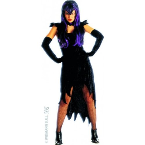 Ladies Dark Mistress Costume Medium Uk 10-12 For Halloween Fancy Dress - Mistress Of The Dark Costume Uk
