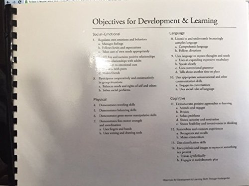 Teaching Strategies Gold: Objectives for Development & Learning: Birth Through Kindergarten