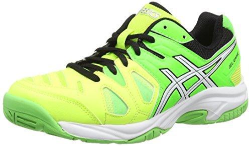 Asics Gel-Game 5 Gs, Unisex Kids' Tennis Shoes Yellow (Flash Yellow/White/Flash Green - 0701)