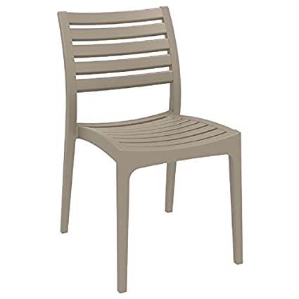 Siesta Ares Resin Outdoor Dining Chair (2 Chairs) - Dove Gray - Amazon.com : Siesta Ares Resin Outdoor Dining Chair (2 Chairs