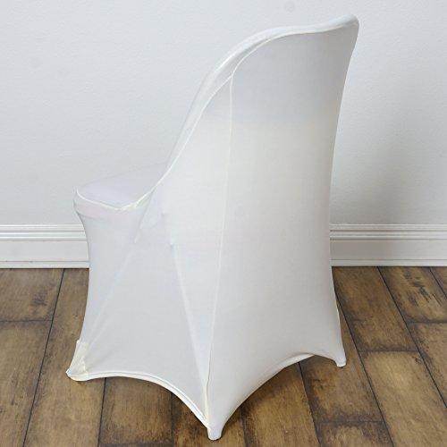 BalsaCircle 10 pcs Spandex Folding CHAIR COVERS Wedding Supplies - Ivory