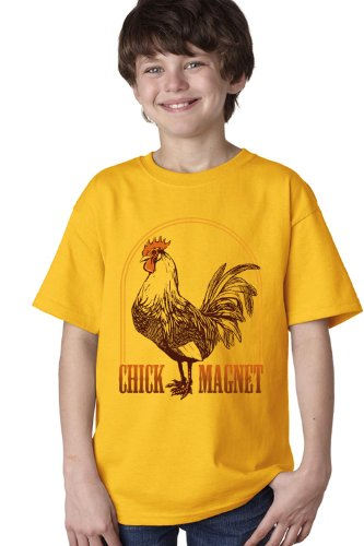 ROOSTER: CHICK MAGNET Youth T-shirt / Funny Farmer 4H Farm Humor Tee