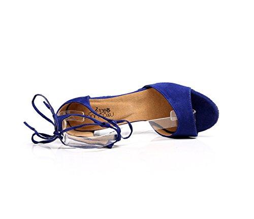 Professionista Delle Med Ragazza Shoe Ballroom Colori altri Satin Dance Scarpe Donne 36 Sandali blue Latino Salsa Superiore Della FAqpOdI