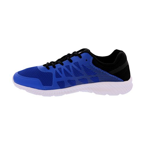 Fila Men's Memory Finity Running Shoe Prince Blue, Black, Metallic Silver