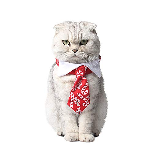Uscharm Christmas Candy Tie,Necktie for Pet Dog Cat,