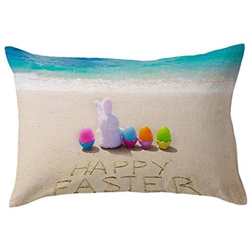 OrchidAmor Cotton Linen Square Home Decorative Throw Pillow Case Sofa Waist Cushion Cover 2019 ()