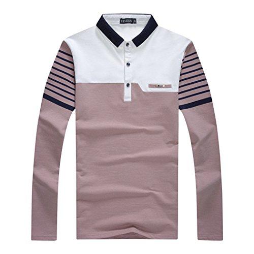 SemiAugust(セミオーガスト)アウター メンズ ポロシャツ 長袖 ゴルフウェアおしゃれ キレイメ ゴルフ カジュアル ボーダー コットン ボタンダウン ストリート
