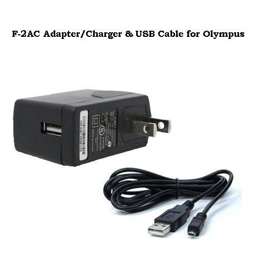 ExcelShots F-2AC AC Adapter + USB Cable For Olympus VG-190