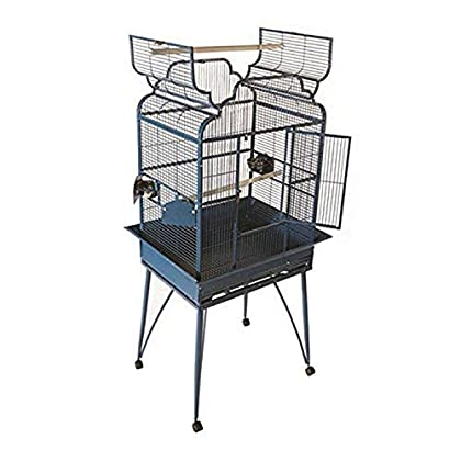 Image of A&E CAGE COMPANY 001098 White Victorian Open Top Cage with Removable Legs, 26 x 20