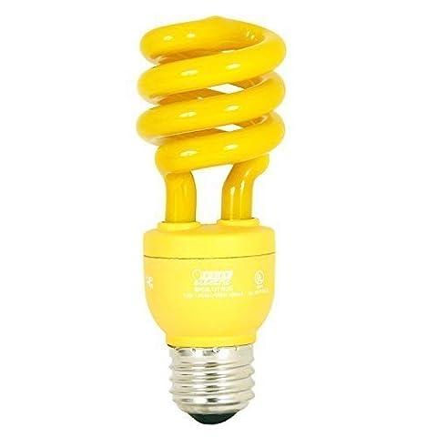 Ciata Lighting CFLS13/Y 13 watts Spiral CFL Bulb, Compact Mini Twist Bug, Yellow,Pack of 2 - Yellow Cfl