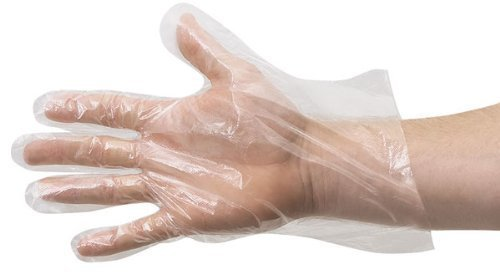 Qingsun Disposable Plastic Gloves Polyethylene Gloves Sterile Disposable Safety Gloves(Pack of 500)