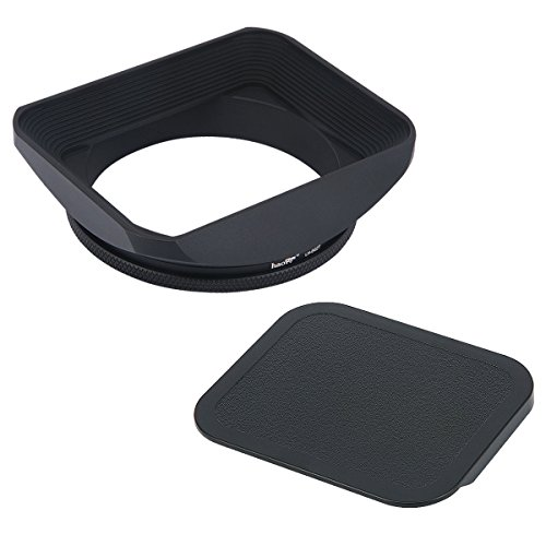 Haoge 62mm Square Metal Screw-in Mount Lens Hood Shade with Cap for 62mm Canon Nikon Sony Leica Leitz Carl Zeiss Voigtlander Nikkor Panasonic Fujifilm Olympus Lens and Other 62mm Filter Thread Lens