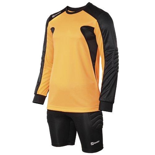 Lotto Mens Sports Football Kit Guard Goal Keepers Long Sleeve & Shorts (Full Kit) (XXL) (Orange Fluorescent/Black)