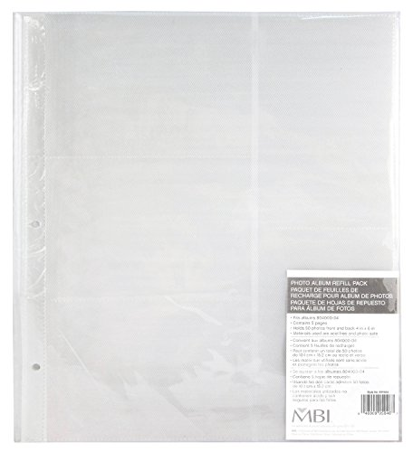 Industries Refill - MCS Replacement MBI Refill Pages for Library 400 Pocket Albums